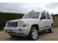 2007 JEEP COMMANDER 3.0 V6 CRD LIMITED AUTOMATIC SILVER ESTATE DIESEL