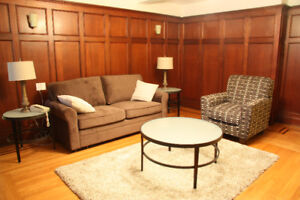 Furnished 1 bedroom apartments close to Downtown