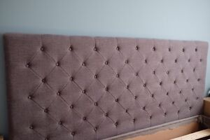 Grey King bed Headboard/Tête de lit