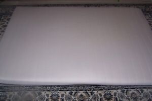 white, clean, full size thin mattress for sale. foam, firm ,