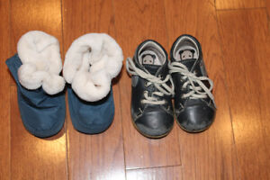 Size 20 preemies baby shoes and baby boots