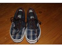 Blue Check Pattern Vans UK Size 3
