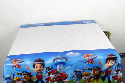 Paw Patrol Kids Table Cover Cloth Tableware Party Supplies plastic 108CM X180CM
