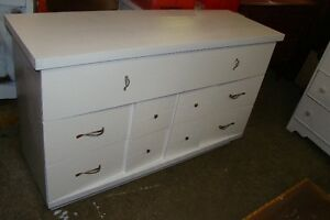 6 drawer white dresser just reduced to 80.00