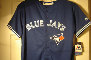BRAND NEW BLUE JAYS JERSEY FULLY STITCHED YOUTH SIZE XLG!