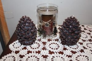 Christmas Candles & Candle Holder