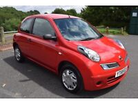 Nissan Micra 1.2 VISIA - 6 MONTH WARRANTY (red) 2009