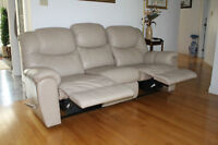 leather lazyboy couch set