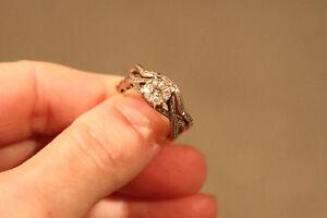Bague Mariage Wedding Alliances Engagement Or Blanc 60 diamants