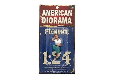 "KRISTAN SITTING WOMAN AMERICAN DIORAMA 1:24 Scale Figurine 2.5"" LADY Figure"