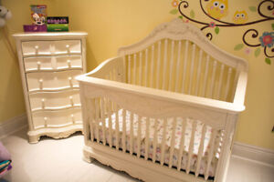Baby Crib and Dresser and Mattress and Sheets!