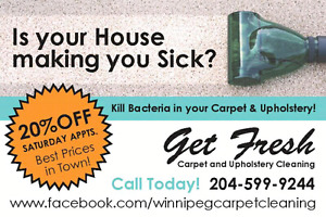 Carpet & Upholstery Saturday Special