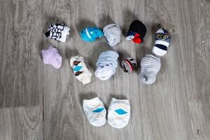 11 Pairs of Baby Socks for Girl or Boy! Good Condition!