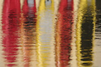 Photographic Canvas Print Canoes Reflected-Algonquin Outfitters