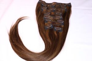 Real Human Remy Hair - 2 Tone Brown (Highlight)