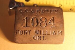 Old  FORT WILLIAM ID Metal Tag / Badge (VIEW OTHER ADS) Kitchener / Waterloo Kitchener Area image 7
