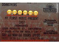 Cast Tickets, Ironworks Inverness
