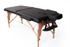 Table de massage portable 26'' En bois Beach wood Promotion 139.99$