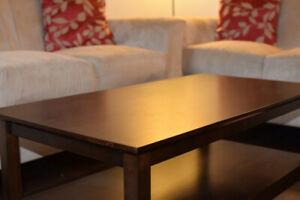 2 - Level Wooden Coffee Table