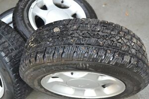 Mustang rims with studded winter tires 205/65R15