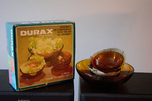 Brand New Brown Glass bowls North Shore Greater Vancouver Area image 1
