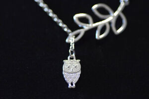 NEW Owl & Leaf Necklace