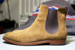 Coach Arnold Chelsea Boot Brown Suede High Leather Men SIZE 11.5