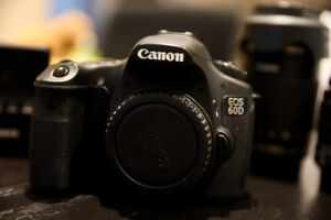 MUST SEE: Canon 60D w/ 2 lenses, Canon battery & charger!