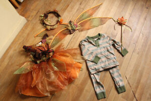 HALLOWEEN COSTUME FAIRY FEE AUTOMEN FALL GIRL FILLE 2T 3T