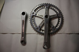MOTOBECANE SR Bicycle Crankset (52-42 chainring) *vintage*