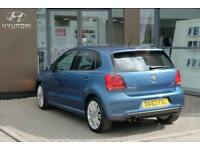 2013 Volkswagen Polo 1.4 TSI BlueGT ACT DSG 140PS 5Dr Petrol blue Semi Auto