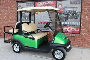 2012 CLUB CAR PRECEDENT GOLF CART ELEC 48VOLT SYNERGY GREEN