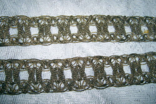 ANTIQUE FRENCH SILVER GOLD GILT BULLION TRIM 4Ft 8 Inches