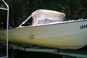 Mirrocraft 14ft aluminum boat, 60 HP with trailer