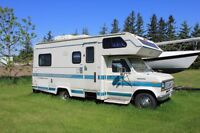 1989 Ford F350 Sterling Series 24ft Class C RV Camper
