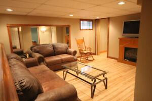 North Oshawa - Spacious 1 Bedroom plus Den/Office Basement Apt.