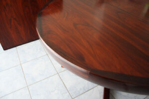 Danish Rosewood Dining Table w/ Leaves