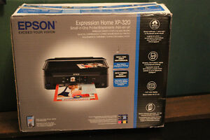 EPSON XP-320 Printer and New Ink.  Barely Used