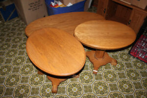 Oval Coffee & End Table Set