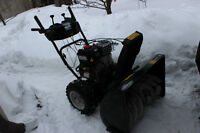 "In excellent conditions 30"" snowblower"