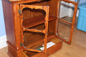 antique small curio cabinet