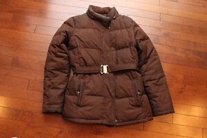 Gap Women Winter Jacket, XS, Brown, Down-Filled
