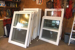 Solid vinyl windows - various sizes and prices