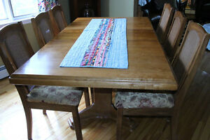 Asian Oak table and chairs