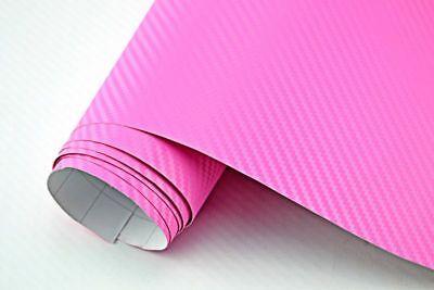 5,42€/m² 3D Carbon Folie pink / rosa - blasenfrei 1200 x 152cm Klebefolie Carbon