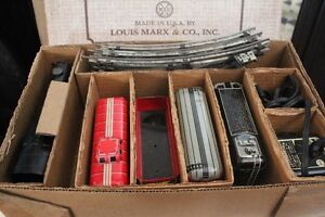 VERY MINT EARLY 50S MARX VINTAGE STEAM TRAIN SET