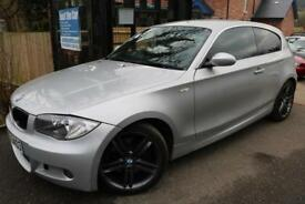 2008 BMW 1 SERIES 123d M Sport Silver 3 Door FSH Long MOT Finance Available