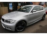 2008 BMW 1 SERIES 123d M Sport Silver 3 Door FSH Long MOT Finance Available