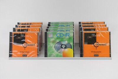 CD Ständer aus Hochwertigem Aluminiumprofil Flip für 33 CDs