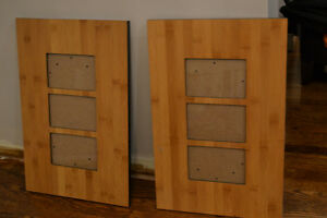 2 Bamboo Picture Frames